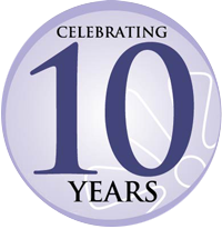 Celebrating 10 Years graphic